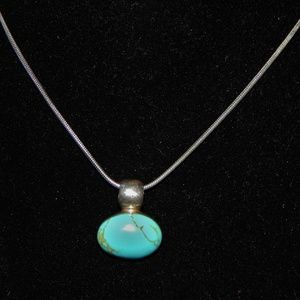 VTG Minimalist Dream ATI Turquoise/Silver Necklace